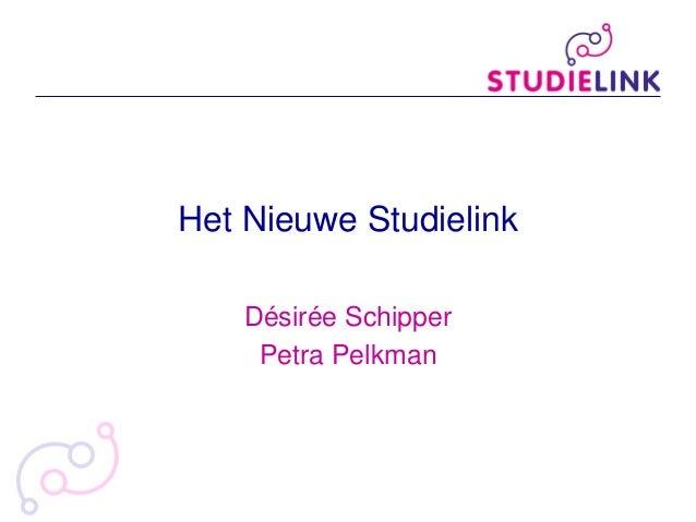 Het Nieuwe Studielink Désirée Schipper Petra Pelkman