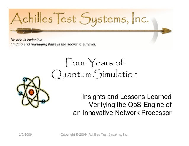 Four Years of           Quantum Simulation                       Insights and Lessons Learned                         Veri...