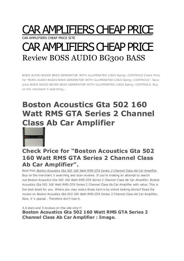 CAR AMPLIFIERS CHEAP PRICECAR AMPLIFIERS CHEAP PRICE SITECAR AMPLIFIERS CHEAP PRICEReview BOSS AUDIO BG300 BASS &COBOSS AU...