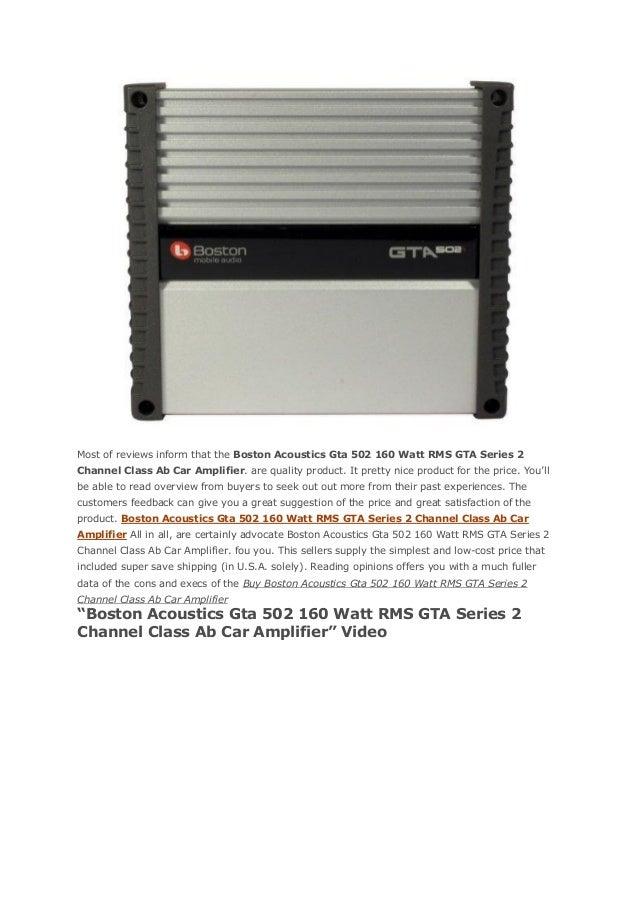Boston acoustics gta 502 160 watt rms gta series 2 channel class ab c…