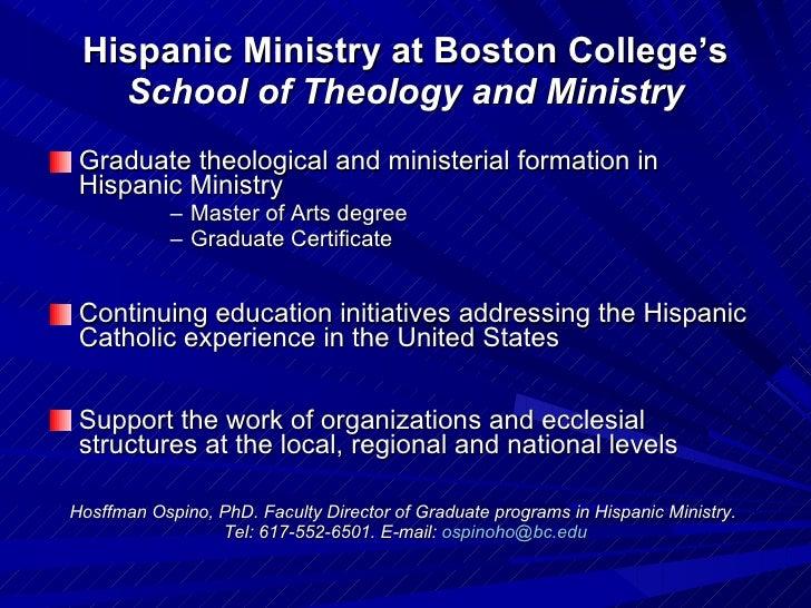... 2. Hispanic Ministry at Boston College's ...