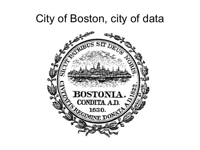 City of Boston, city of data