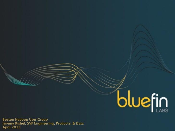 Boston Hadoop User GroupJeremy Rishel, SVP Engineering, Products, & DataApril 2012