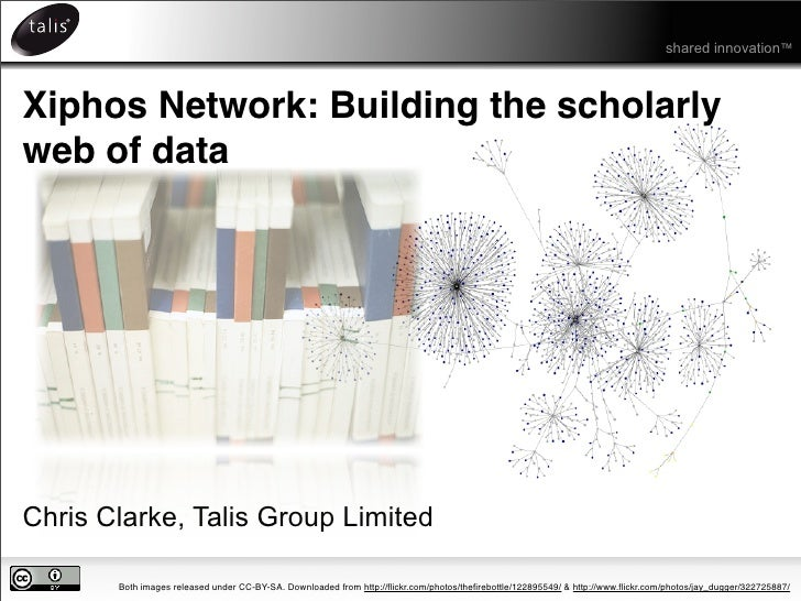 shared innovation™    Xiphos Network: Building the scholarly web of data     Chris Clarke, Talis Group Limited         Bot...