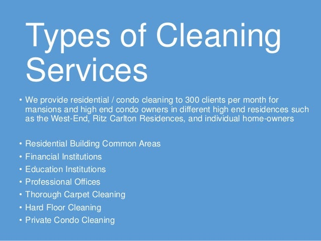 Types Of Commercial Cleaning Services Thecarpets Co