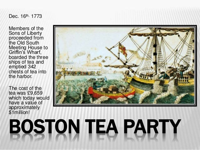 a study of the boston tea party Tea party values tea party values  is worse than the 1765 stamp act that the revolutionaries got upset with or the boston tea party  new study: you don't.