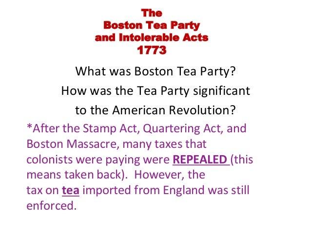 an analysis of boston tea party