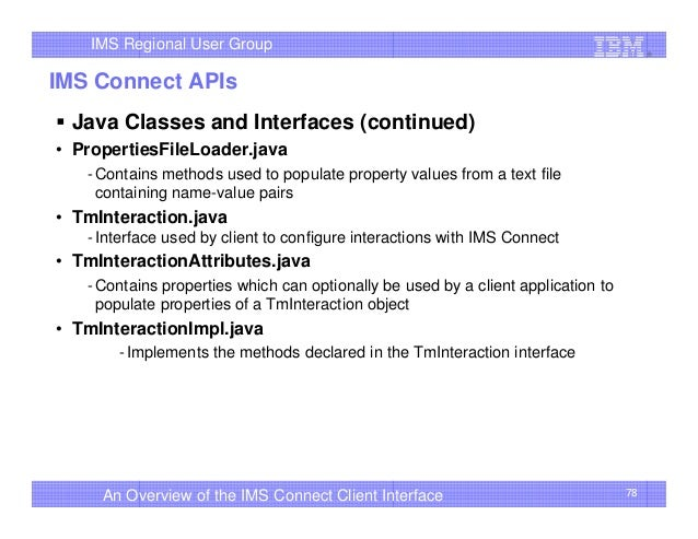 An Overview of the IMS Connect Client Interface - IMS UG