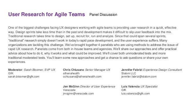 User Research for Agile Teams One of the biggest challenges facing UX designers working with agile teams is providing user...