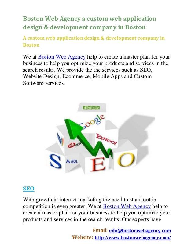 Boston Web Agency a custom web applicationdesign & development company in BostonA custom web application design & developm...