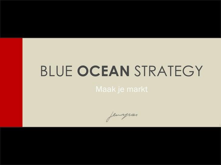BLUE  OCEAN  STRATEGY Maak je markt