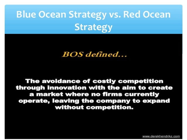 red ocean to blue ocean on the creation Blue ocean strategy, by contrast, offers a systematic approach and reproducible set of methodologies and procedures for the creation of innovative products for both new companies and existing companies.