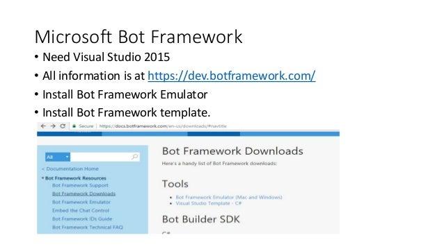 Conversational UI Bot Framework