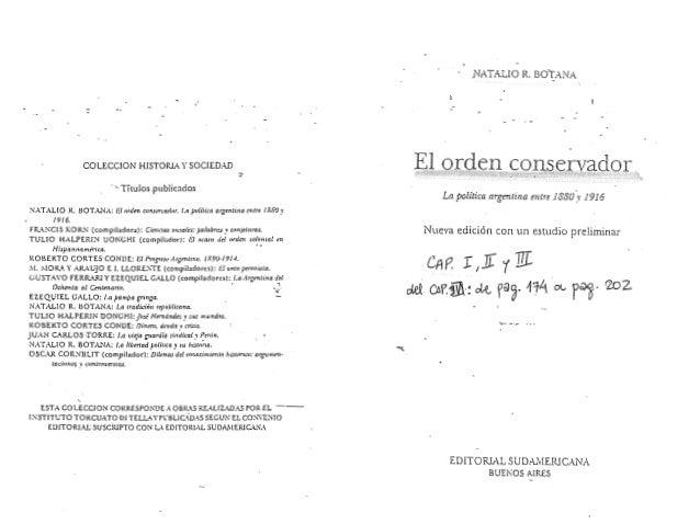 .- COLECCION HISTORL-1. YSOCIEDAD · -Títulos publicados NATAL!O R. BOTA.NA: 1:1 nrden c11n1m.•ad11r. /.a p111itica argrntr...