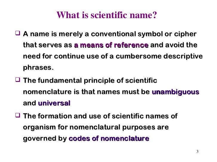 main rules of icbn Main rules of icbn 1 according to binomial system name of any species consists of two names (i) generic name - name of genus (ii) specific name - trival name.