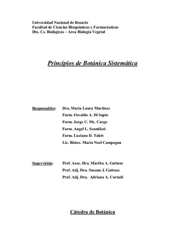 Universidad Nacional de RosarioFacultad de Ciencias Bioquímicas y FarmacéuticasDto. Cs. Biológicas – Area Biología Vegetal...
