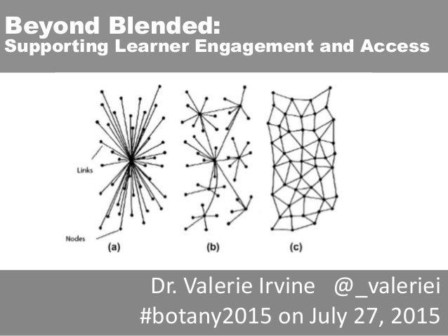 Beyond Blended: Supporting Learner Engagement and Access Dr. Valerie Irvine @_valeriei #botany2015 on July 27, 2015