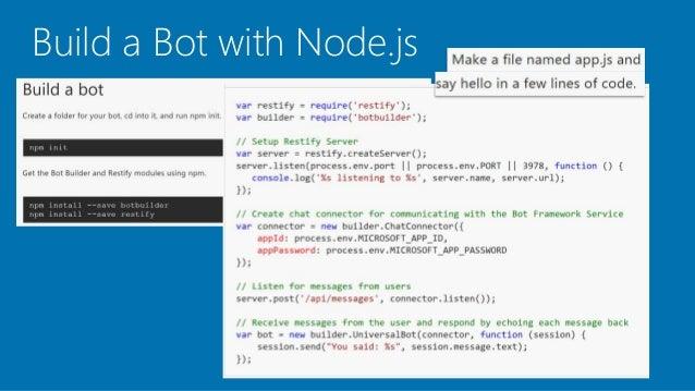 Intro to Bot Framework v3 with DB