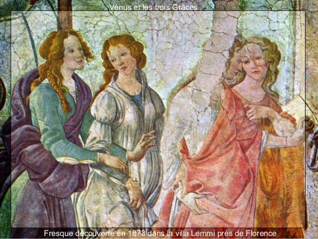 Vénus et les trois Grâces Fresque découverte en 1873 dans la villa Lemmi près de Florence