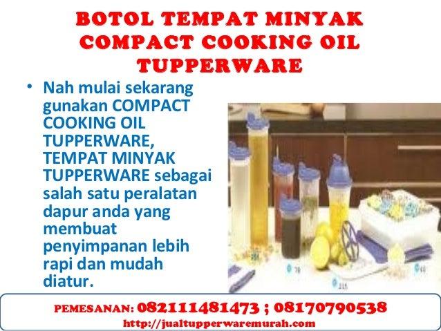 BOTOL TEMPAT MINYAK TUPPERWARE COMPACT COOKING OIL