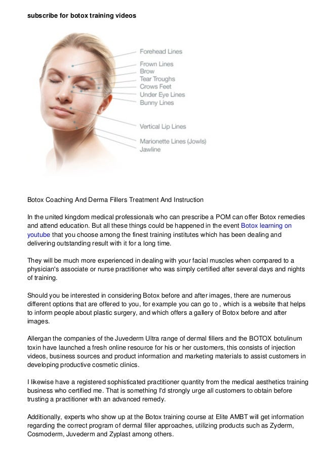 Botox learning on youtube