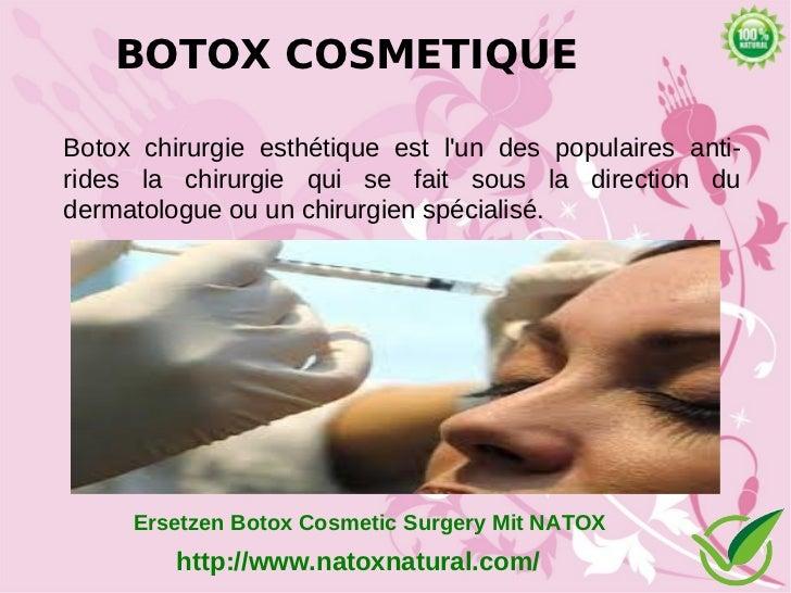 BOTOX COSMETIQUEBotox chirurgie esthétique est lun des populaires anti-rides la chirurgie qui se fait sous la direction du...