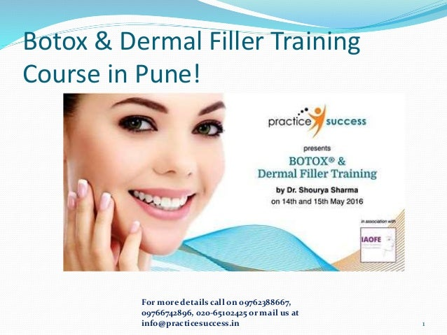 Botox and Dermal Filler training course in Pune