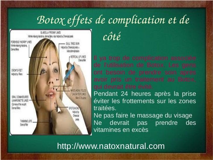 Botoxeffetsdecomplicationetde               côté              Il ya trop de complication associée              de l...