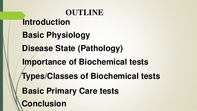 clinical chemistry investigation for primary health care