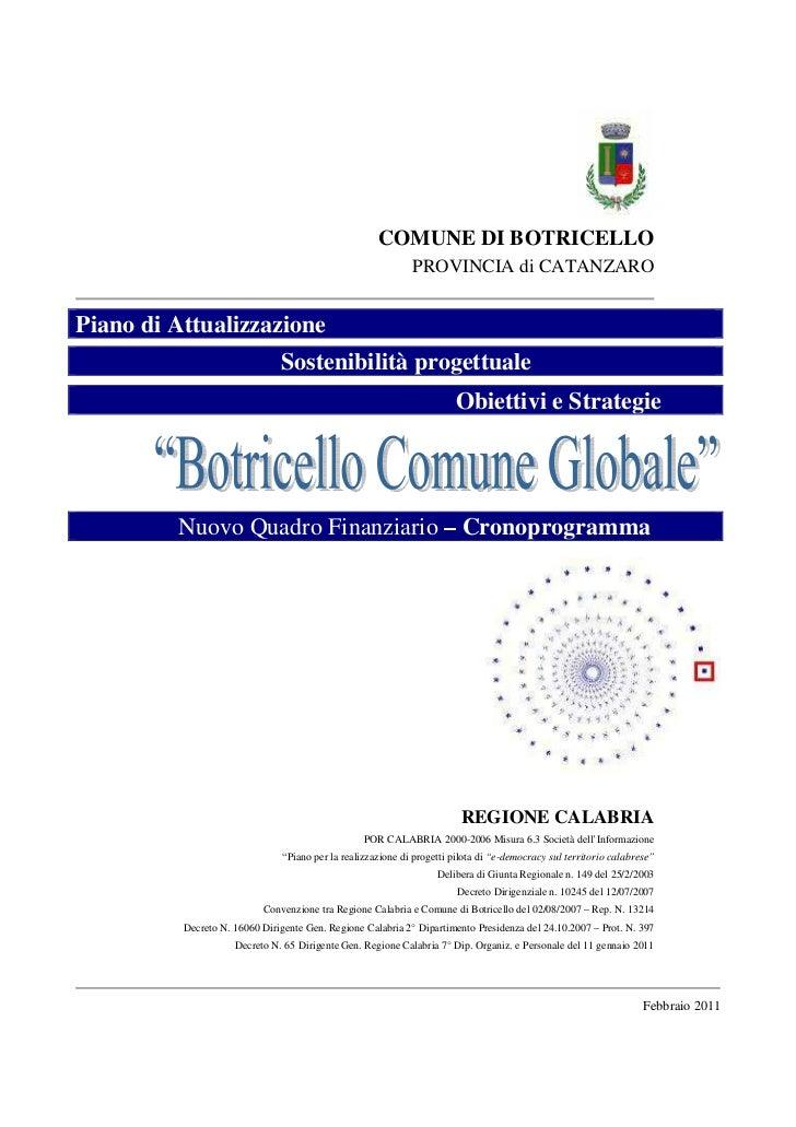 COMUNE DI BOTRICELLO                                                              PROVINCIA di CATANZAROPiano di Attualizz...