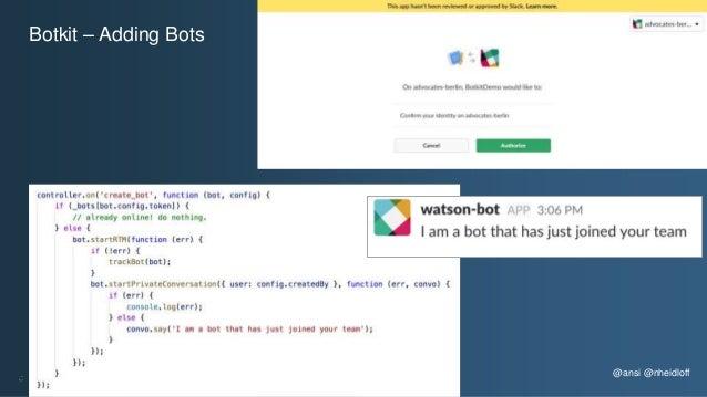 @ansi @nheidloff Botkit – Adding Bots