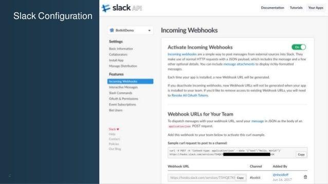 @ansi @nheidloff Slack Configuration