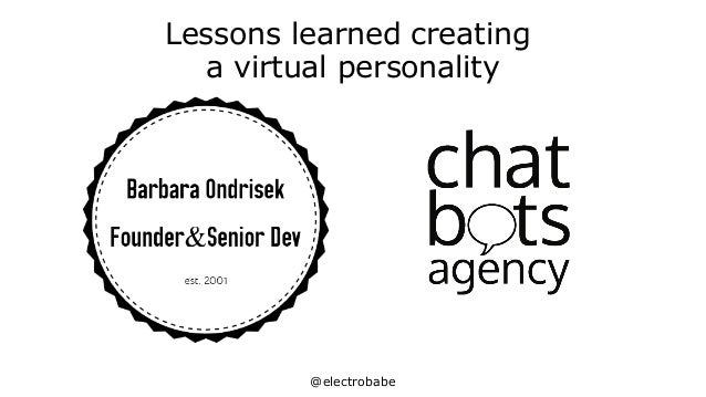 @electrobabe Lessons learned creating a virtual personality
