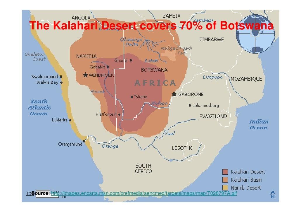 Botswana - Kalahari desert map