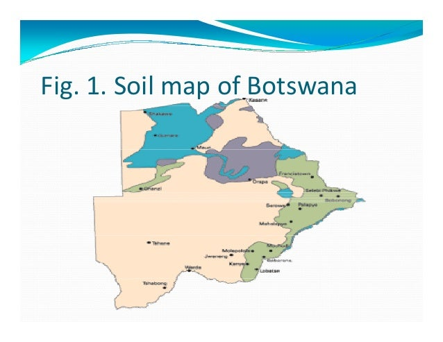 Status of soil resources in botswana and the needs and for Types of soil resources