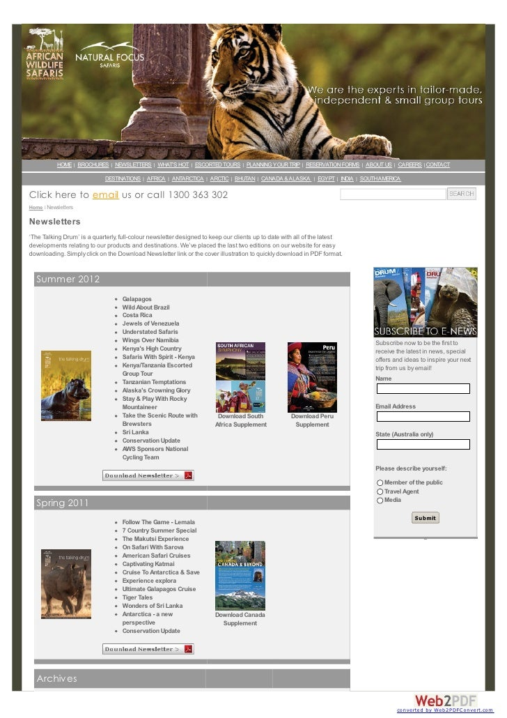 HOME   BROCHURES   NEWSLETTERS   WHATS HOT   ESCORTED TOURS   PLANNING YOUR TRIP   RESERVATION FORMS   ABOUT US   CAREERS ...