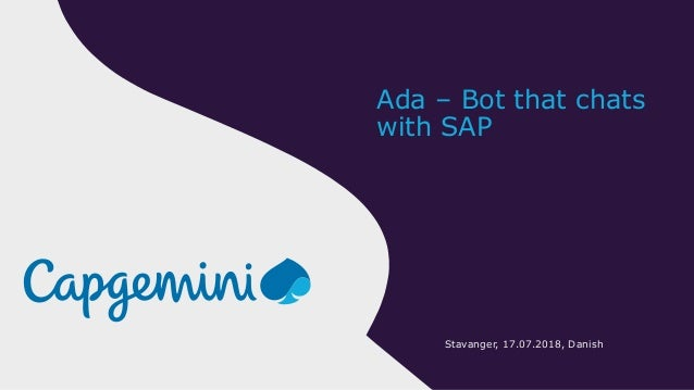 Bot that chats with sap
