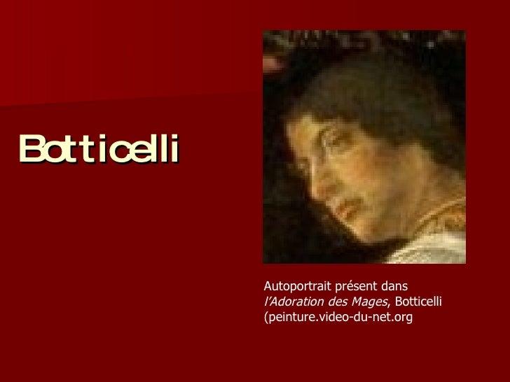 Botticelli Autoportrait présent dans  l'Adoration des Mages , Botticelli (peinture.video-du-net.org