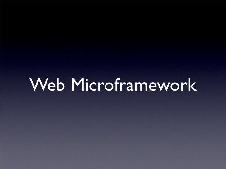 Bottle - Python Web Microframework Slide 3