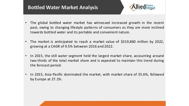 bottled water industry analysis essay A comprehensive industry research report offering statistical data and analysis of the sparkling, non-sparkling, imported, spring, purified & hod market segments.