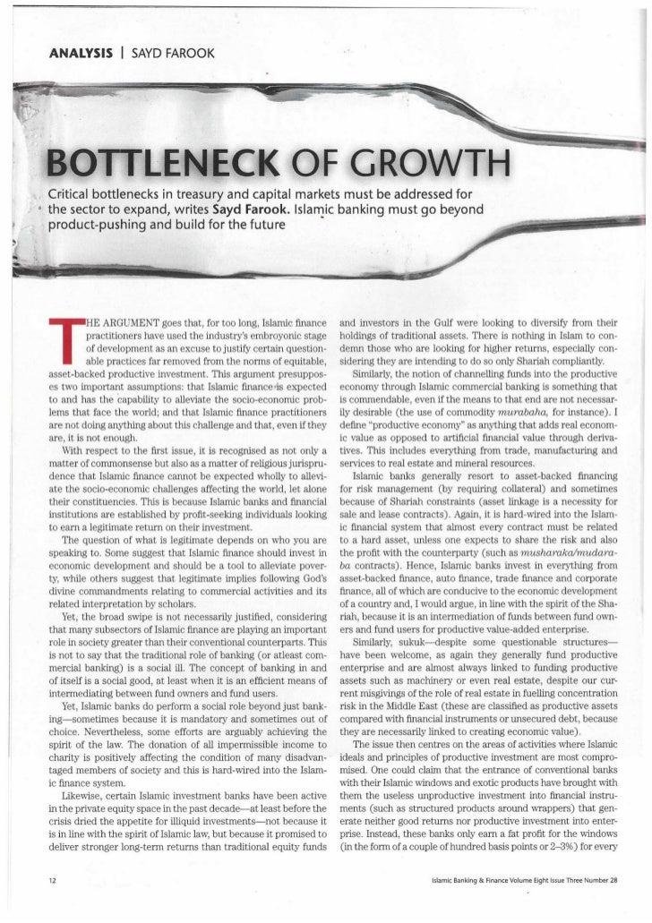 Bottleneck Of Growth: Islamic Finance Liquidity Management