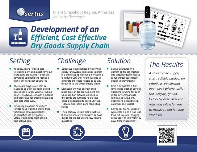 Client Snapshot | Region: Americas Industry: Beverages  Development of an BEVERAGES  Efficient, Cost Effective Dry Goods S...
