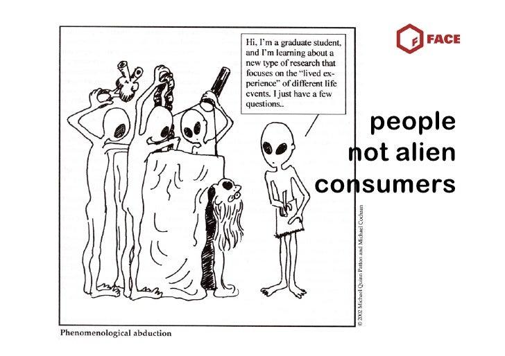 people   not alien consumers