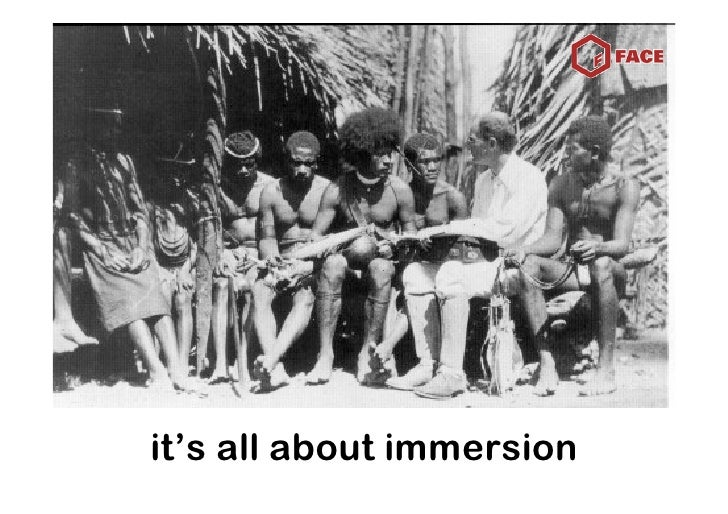 it's all about immersion