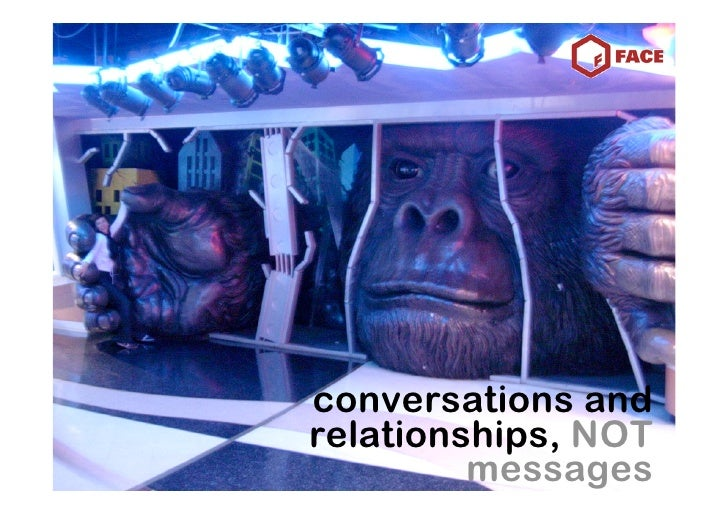 conversations and relationships, NOT          messages