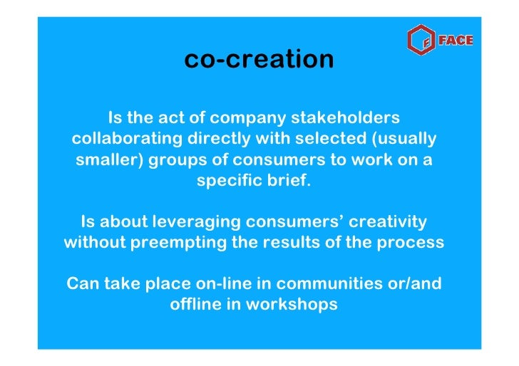 structure     of a co-creation   session