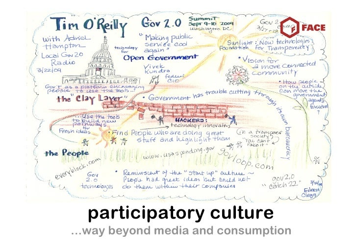 participatory culture ...way beyond media and consumption