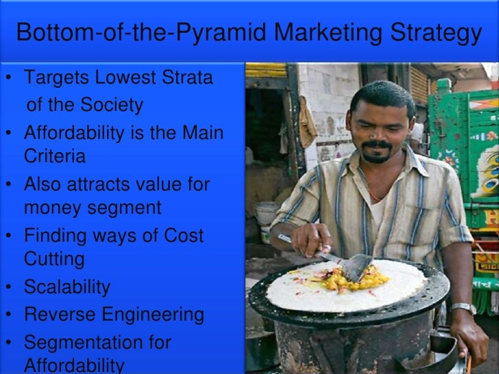 marketing strategy for bottom of pyramid The bottom of pyramid strategy the great potential of the bottom of pyramid search main menu skip to primary content skip to secondary content home 4as and 5ds of marketing for bop.