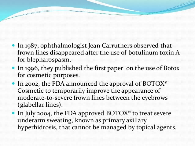 Botulinum toxin research paper