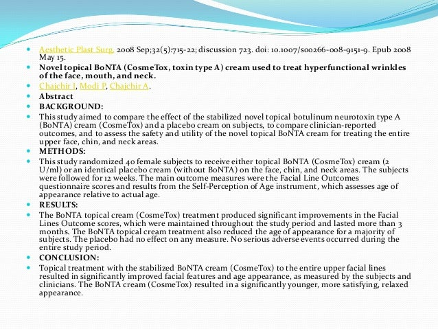 Botulinum toxin in dermatology ppt